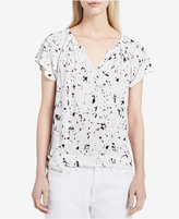 Calvin Klein Jeans Printed Flutter-Sleeve Top