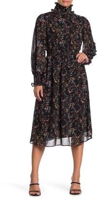 MelloDay Long Sleeve Smock Detail Dress (Petite)