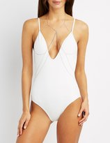 Charlotte Russe Draped Embellished Body Chain