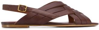 Michel Vivien Jaspe criss-cross strappy sandals
