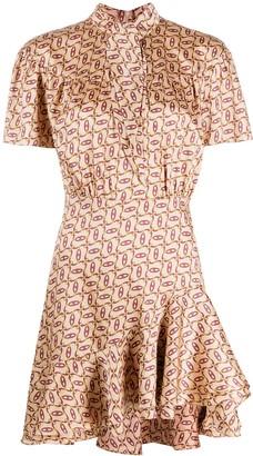 Sandro Graphic Print Dress