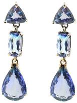 Mabel Chong - 3 Tall Tanzanite Earrings In 14K White Gold 457441016