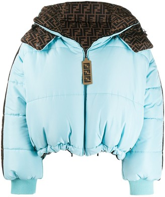 Fendi FF logo reversible puffer jacket
