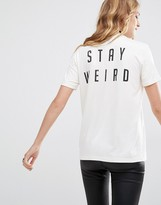 LIRA Retro T-Shirt With Stay Weird Back Print