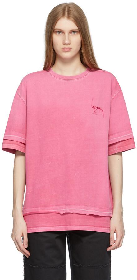 Ader Error Red Needle Logo Layered T-Shirt