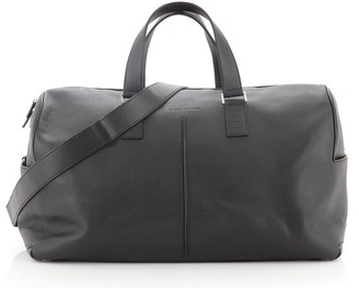 Christian Dior Convertible Homme Duffle Bag Leather Large