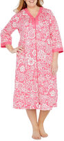 Miss Elaine By 3/4 Sleeve Robe-Plus