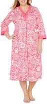 Miss Elaine By 3/4 Sleeve Robe-Plus