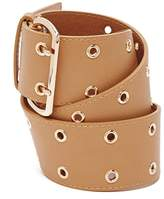 Forever 21 FOREVER 21+ Faux Leather Grommet Belt
