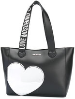 Love Moschino heart patch tote - women - Polyurethane - One Size