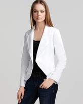 Sateen One Button Jacket