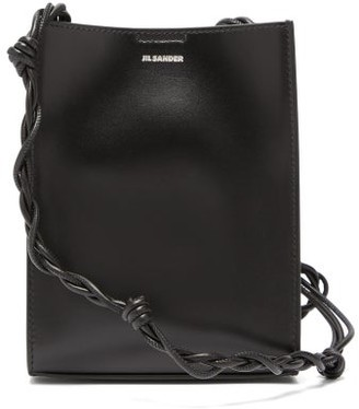 Jil Sander Tangle Small Braided-strap Leather Shoulder Bag - Black