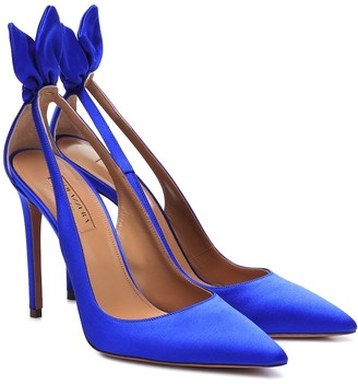 Aquazzura Exclusive to Mytheresa Bow Tie satin pumps