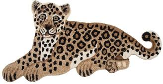 Leopard Wool Rug For Lvr