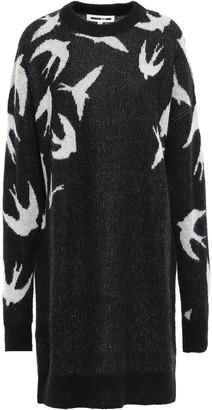 McQ Jacquard-knit Mini Dress