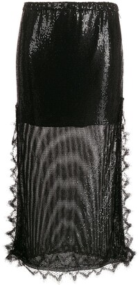 Christopher Kane Chainmail Lace Trim Skirt