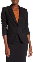 Veronica Beard Cutaway Wool Blend Jacket
