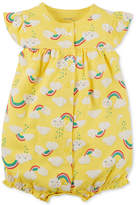 Carter's Rainbow-Print Cotton Romper, Baby Girls