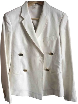 Celine Beige Linen Jackets