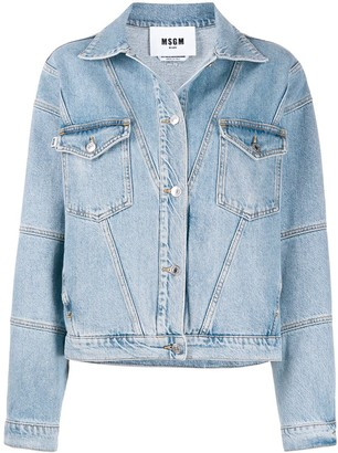 MSGM Oversized Denim Jacket