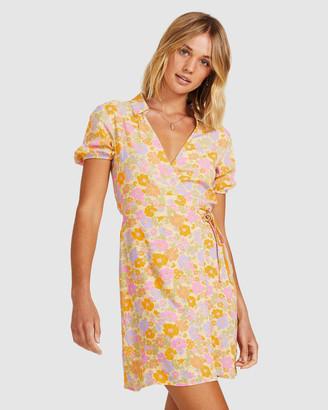 Don't Ask Amanda Naomi Wrap Collar Dress