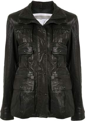 Chanel Pre Owned Sports Line leather military jacket