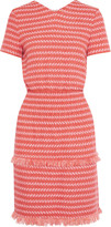 Maje Fringed woven mini dress