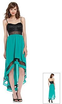 Chord® Juniors' Lace Trim Maxi Dress