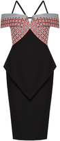 Roland Mouret Wheatstone off-the-shoulder stretch-crepe dress
