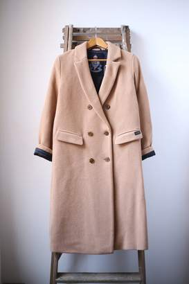 Scotch & Soda Long Double Breasted Camel Coat - L