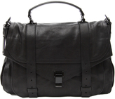 Extra Large Leather PS1 Bag - Black