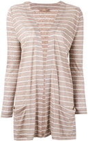 Cruciani striped cardigan - women - Linen/Flax - 40