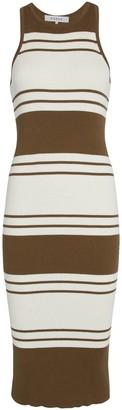 Frame Striped Rib Knit Dress