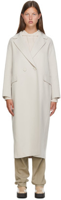 S Max Mara Off-White Wool Argo Coat