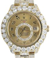 Rolex Sky Dweller 326938 18K Yellow Gold 39.7ct Diamond 46mm Mens Watch