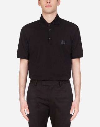 Dolce & Gabbana Pique Cotton Polo Shirt With Patch