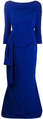 Talbot Runhof Bow Front Dress
