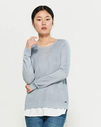 Calvin Klein Double Layer Long Sleeve Sweater