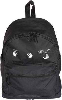 Off-White Matte Logo Print Backpack