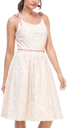 Gal Meets Glam Women's Casual Dresses BEIGE/ANTIQUE - Beige & Antique Rose Floral Norah Tie-Strap A-Line Dress - Women & Juniors