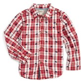 Hatley Toddler Boy's Embroidered Plaid Shirt