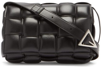 Bottega Veneta Padded Cassette Intrecciato Leather Cross-body Bag - Black