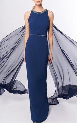 Jenny Packham Opera Draped Crepe Gown