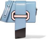 Prada Ribbon Leather Shoulder Bag - Blue