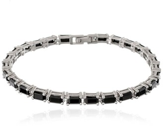 Forever Creations Usa Inc. Sterling Silver Black Spinel Bracelet
