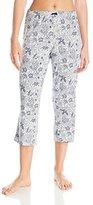 Ellen Tracy Women's Cropped Knit Rayon Spandex Pant