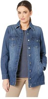 Liverpool High-Low Shirt Jacket in Classic Soft Rigid Denim (Beckett) Women's Coat