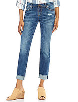 KUT from the Kloth Amy Straight Leg Roll-Up Jeans