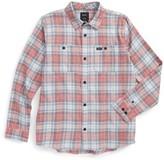 RVCA Boy's Diffusion Plaid Shirt