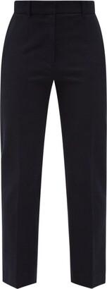 Joseph Coleman Straight-leg Gabardine Trousers - Navy